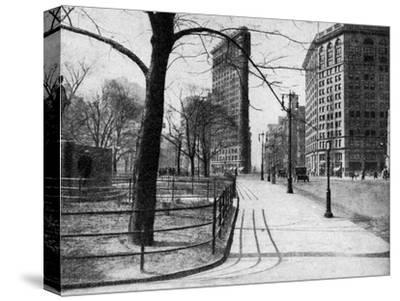 Flatiron Building and Madison Square, New York City, USA, C1930S-Ewing Galloway-Stretched Canvas Print