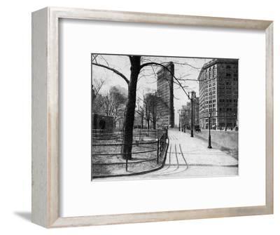 Flatiron Building and Madison Square, New York City, USA, C1930S-Ewing Galloway-Framed Premium Giclee Print