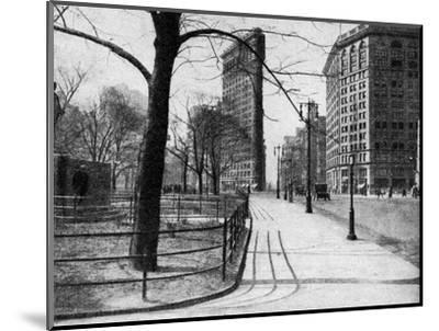 Flatiron Building and Madison Square, New York City, USA, C1930S-Ewing Galloway-Mounted Premium Giclee Print
