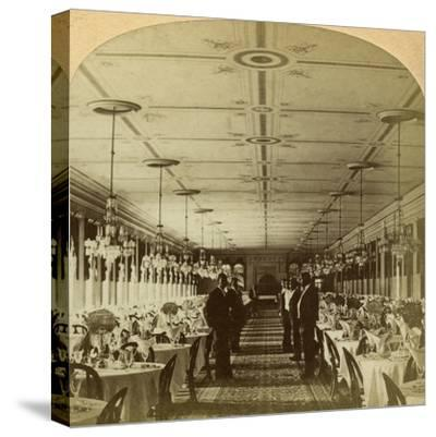Dining Room, Grand Union Hotel, Saratoga, New York, Usa-BW Kilburn-Stretched Canvas Print