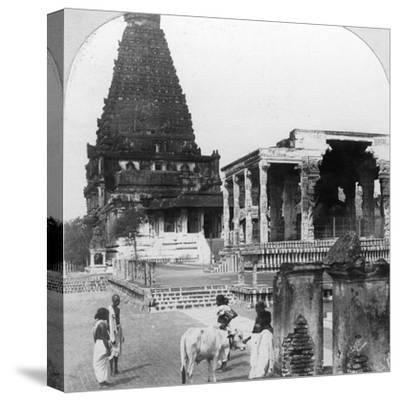 The Great Pagoda of Tanjore (Thanjavu), India, 1902-BL Singley-Stretched Canvas Print