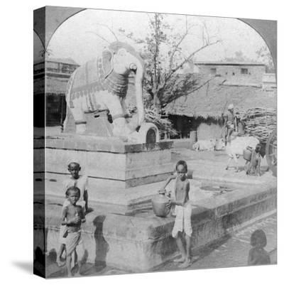 An Elephant Fountain, Madura, India, 1901-BL Singley-Stretched Canvas Print