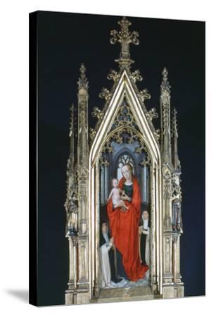 Virgin and Child, St Ursula Shrine, 1489-Hans Memling-Stretched Canvas Print
