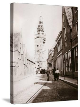 Street Scene, Monnickendam, Netherlands, 1898-James Batkin-Stretched Canvas Print