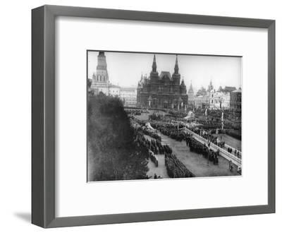 Service in Red Square to Celebrate the Centenary of the War in 1812, Moscow, Russia, 1912-K von Hahn-Framed Giclee Print