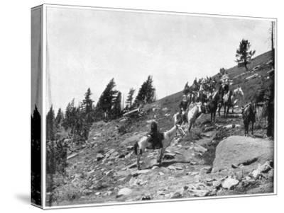 Windy Point, Pike's Peak, Colorado, Late 19th Century-John L Stoddard-Stretched Canvas Print