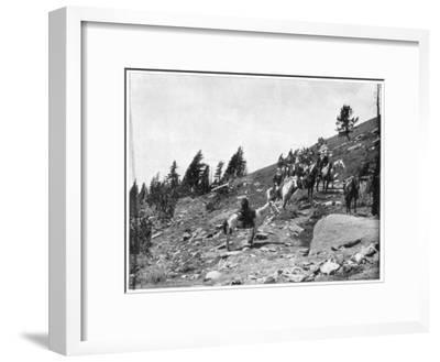Windy Point, Pike's Peak, Colorado, Late 19th Century-John L Stoddard-Framed Giclee Print
