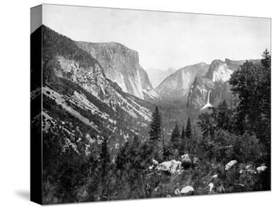 Yosemite Valley From-John L Stoddard-Stretched Canvas Print
