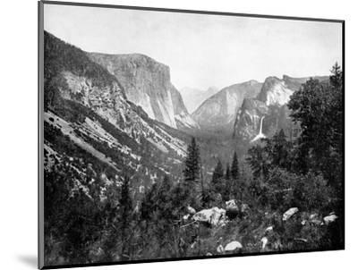 Yosemite Valley From-John L Stoddard-Mounted Giclee Print