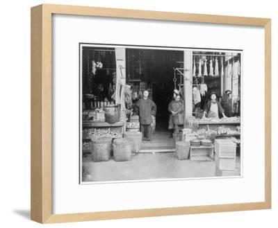 Chinatown, San Francisco, Late 19th Century-John L Stoddard-Framed Giclee Print