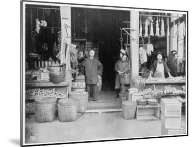 Chinatown, San Francisco, Late 19th Century-John L Stoddard-Mounted Giclee Print