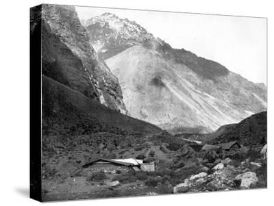 Pass of Uspallata, Andes Mountains, South America, 1893-John L Stoddard-Stretched Canvas Print