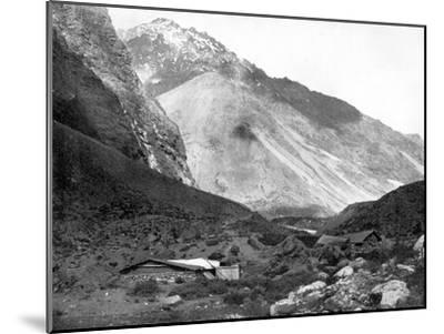 Pass of Uspallata, Andes Mountains, South America, 1893-John L Stoddard-Mounted Giclee Print