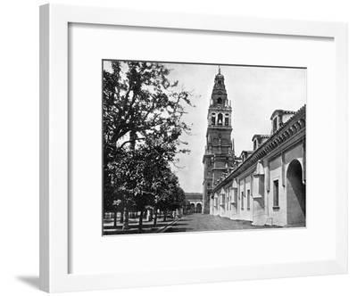 Court of Oranges and Mosque, Cordoba, Spain, 1893-John L Stoddard-Framed Giclee Print
