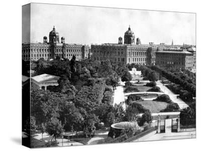 Volksgarten and Theseum, Vienna, Austria, 1893-John L Stoddard-Stretched Canvas Print