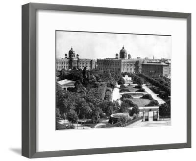 Volksgarten and Theseum, Vienna, Austria, 1893-John L Stoddard-Framed Giclee Print