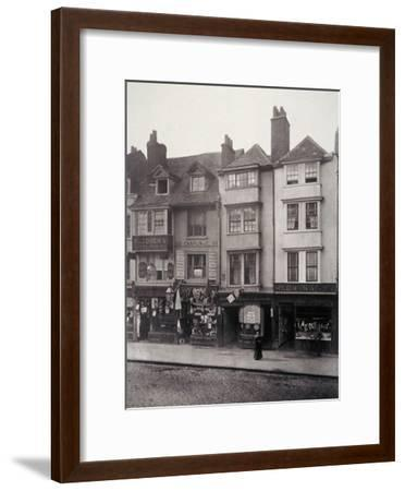 View of Houses and Shop Fronts in Borough High Street, Southwark, London, 1881-Henry Dixon-Framed Giclee Print