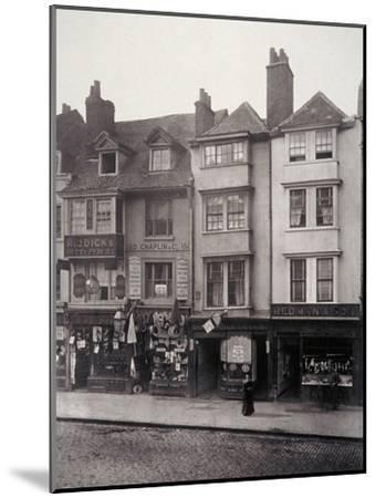 View of Houses and Shop Fronts in Borough High Street, Southwark, London, 1881-Henry Dixon-Mounted Giclee Print