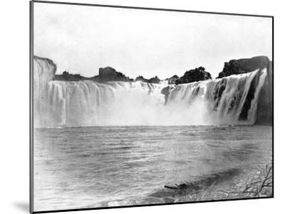 Shoshone Falls, Idaho, USA, 1893-John L Stoddard-Mounted Giclee Print