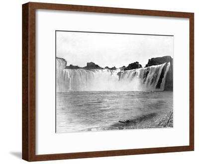 Shoshone Falls, Idaho, USA, 1893-John L Stoddard-Framed Giclee Print