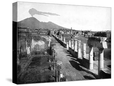 The Forum, Pompeii, Italy, 1893-John L Stoddard-Stretched Canvas Print