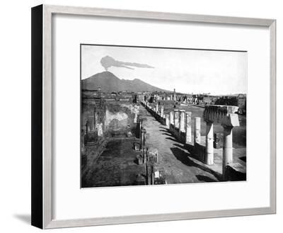 The Forum, Pompeii, Italy, 1893-John L Stoddard-Framed Giclee Print