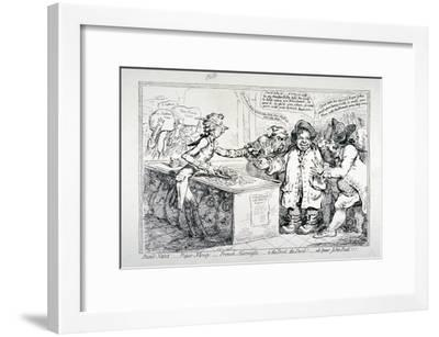 Bank-Notes, Paper Money, French Alarmists..., 1797-James Gillray-Framed Giclee Print