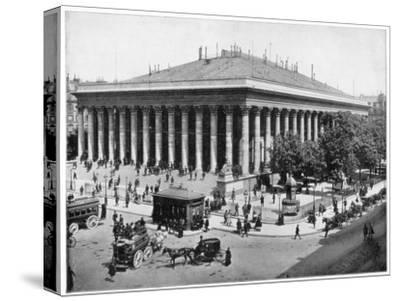 The Bourse, Paris, Late 19th Century-John L Stoddard-Stretched Canvas Print