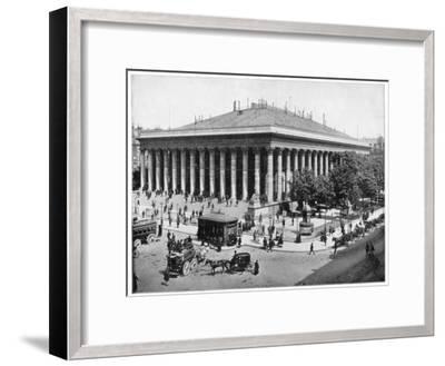 The Bourse, Paris, Late 19th Century-John L Stoddard-Framed Giclee Print