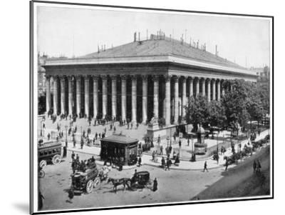 The Bourse, Paris, Late 19th Century-John L Stoddard-Mounted Giclee Print