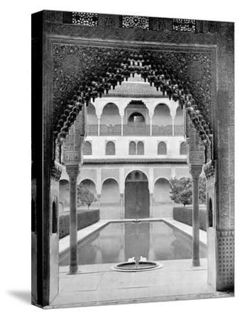 Court of the Myrtles, Alhambra, Spain, 1893-John L Stoddard-Stretched Canvas Print