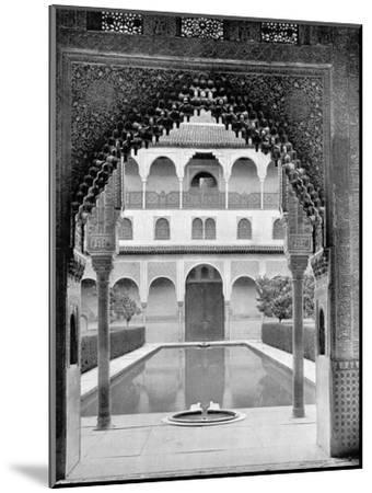 Court of the Myrtles, Alhambra, Spain, 1893-John L Stoddard-Mounted Giclee Print
