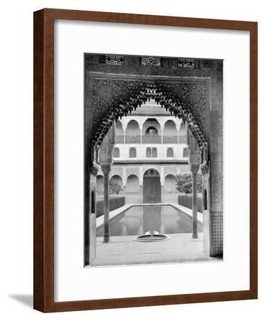 Court of the Myrtles, Alhambra, Spain, 1893-John L Stoddard-Framed Giclee Print