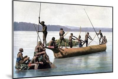 Fishing with a Bow, Andaman and Nicobar Islands, Indian Ocean, C1890- Gillot-Mounted Giclee Print