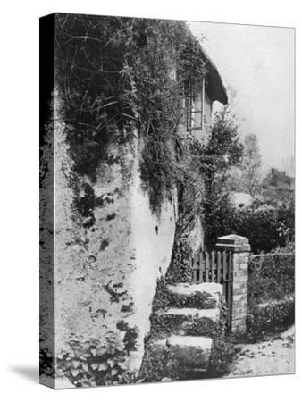 A Cottage with an Ancient 'Upping Stock, Cockington, Devon, 1924-1926-HJ Smith-Stretched Canvas Print