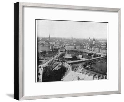Panorama of Stockholm, Sweden, Late 19th Century-John L Stoddard-Framed Giclee Print