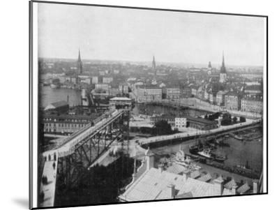 Panorama of Stockholm, Sweden, Late 19th Century-John L Stoddard-Mounted Giclee Print