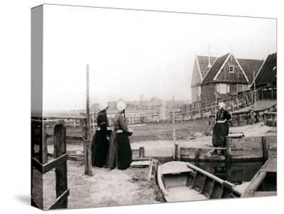 Women in Traditional Dress, Marken Island, Netherlands, 1898-James Batkin-Stretched Canvas Print