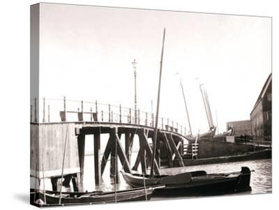 Canal Boats, Marken Island, Netherlands, 1898-James Batkin-Stretched Canvas Print