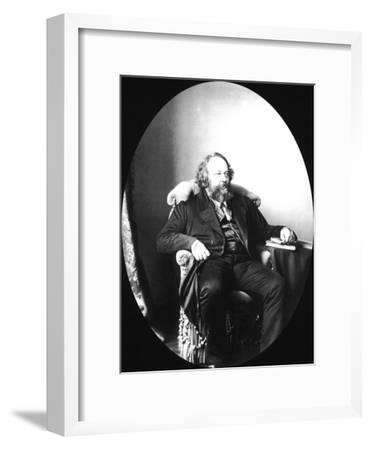 Mikhail Bakunin, Russian Revolutionary and Theorist of Anarchism, 1863-Sergei Levitsky-Framed Giclee Print