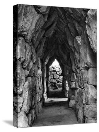 Amongst the Ruins of Tirynth, Greece, 1937-Martin Hurlimann-Stretched Canvas Print