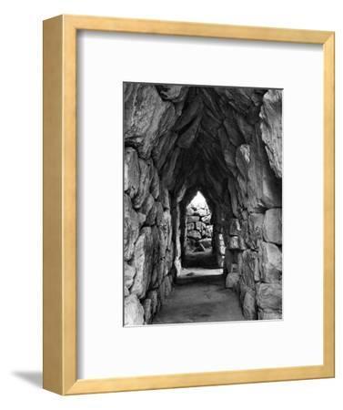 Amongst the Ruins of Tirynth, Greece, 1937-Martin Hurlimann-Framed Giclee Print