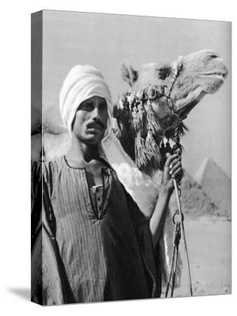 Cameldriver Near the Pyramids, Egypt, 1937-Martin Hurlimann-Stretched Canvas Print