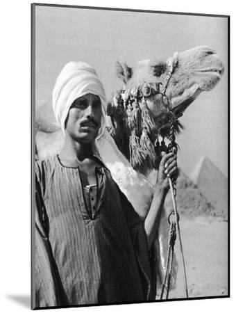 Cameldriver Near the Pyramids, Egypt, 1937-Martin Hurlimann-Mounted Giclee Print
