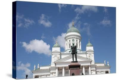 Lutheran Cathedral and the Statue of Emperor Alexander II of Russia, Helsinki, Finland, 2011-Sheldon Marshall-Stretched Canvas Print