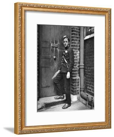 District Messenger, London, 1926-1927-McLeish-Framed Giclee Print