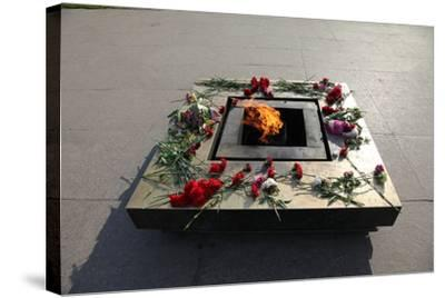 Eternal Flame in the Field of Mars, St Petersburg, Russia, 2011-Sheldon Marshall-Stretched Canvas Print