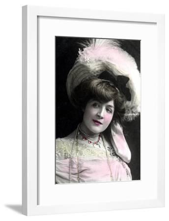 Cora Brown-Potter (1857-193), American Actress, Early 20th Century-TC Turner-Framed Giclee Print