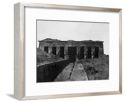 Temple of Denderah, Upper Egypt, 1852-Maxime Du Camp-Framed Giclee Print