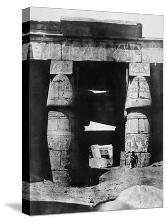 Temple Ruins, Egypt, 1852-Maxime Du Camp-Stretched Canvas Print